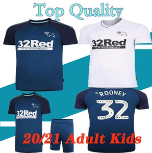 20 21 Derby County Football Club Soccer Jerseys 2020 2021 HOME WISDOM WAGHORN MARTIN Soccer Shirt HAMER ROONEY Football uniform men + kids