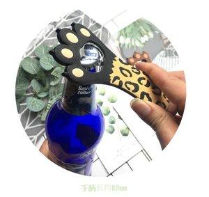 Открывалка для бутылок Кошачий Лапы бутылки Медведь Консервооткрыватели Tik Tok Same Стиль открывалки Leopard Dot мультфильм Cat Лапка Openner Кухонные инструменты DHA1160