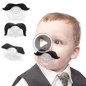 Nueva alta Qlity Silcone divertido bigote labios muchacha infantil infantil del bebé Chupete Chupete ortodoncia Barba pezones