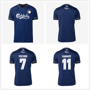 20 21 Copenhagen Football Jersey # 7 Fischer 10 Zeca 11 Darkamy Sigurdsson 14 N'Doye 29 Skov Customized 20 20 Away Blue Road Soccer Shirt