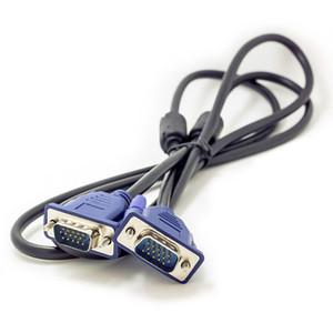 Alta calidad 1.5M 5FT HDB15 15Pin VGA Vega al cable VGA masculino para TV Cable de extensión del monitor de la computadora