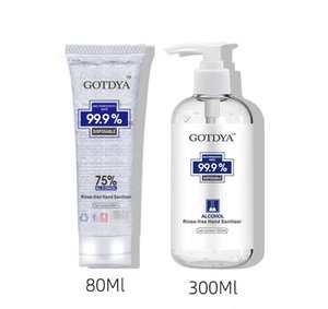 In Stock!GOTDYA Hand Sanitizer With Vitamin E 80ml 60ml 250ml 300ml 500ml Wash Free for Home Office