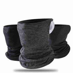 Verano de refrigeración de ciclo máscara máscaras cuello polaina de cara a prueba de polvo de la bufanda de protección UV transpirable deportes al aire libre equitación Máscaras CYZ2621