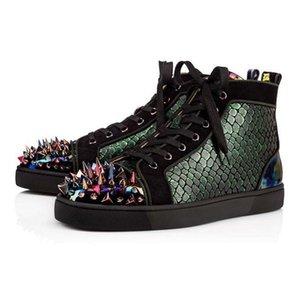 Neuzugänge Krystal Spike Socke Donna Flach Männer Turnschuhe Designer LuxuxMens Rot grundiert Schuhe Frauen Rivet Spiky Socken Junior Spikes flache Schuhe