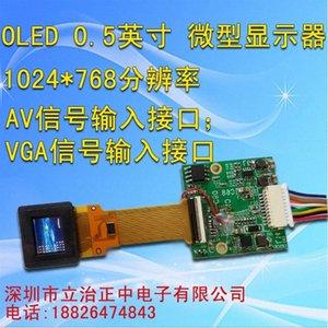 OLED ekran 0.5inch Monocular FPV Video Gözlük Kızılötesi Gece Görüş Ekran Vizör AV HDMI VGA 4lHS #