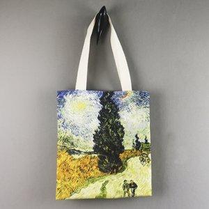 سيد الانطباعي فان جوخ وحة زيتية الكتف قماش الإبداعية حقيبة الطالب الكتف الفن فن حقيبة قماش أوقات الفراغ