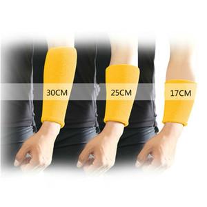 1pair Arm Compression Sleeve Sweatband bras MITAINES couverture non-Slip Athletic coton éponge manches de protection Forearm
