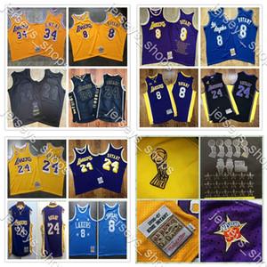 2020 New autentico Mitchell Ness Los AngelesLakersKobeBryant60 °824 Swingman di pallacanestro Maglie