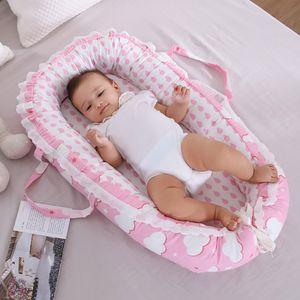Tragbare Babybett Anti-Druck Säuglingsspielraum-Nest Bed faltbare Bionic Bett für Neugeborene Baby-Bassinet Auto Playpen
