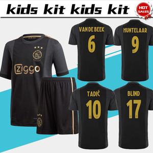 Çocuklar Takımı Avrupa jersey 50 siyah altın # 11 PROMES 20/21 Çocuk futbol forması 6. VAN DE BEEK 10. TADIC erkek futbol üniforma Ajax