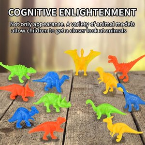 novelty mini dinosaur egg set simulation dinosaur forest animal park model toy for early kids boys intelligence gift 04
