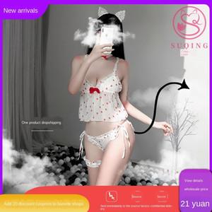 Croustillants petits Sous-vêtements Strawberry pyjama Strawberry pantalon anneau jambe jeu emptation de chemise de nuit T sexy sexy style princesse de sous-vêtements ni
