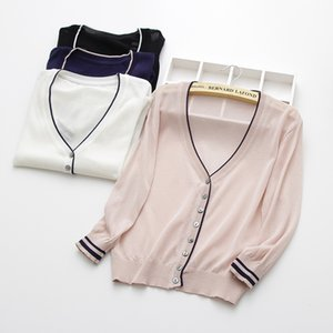 special price, thin knitted linen sweater, women's cardigan jacket, 2019 summer thin sunscreen, short air conditioning shirt. T200820