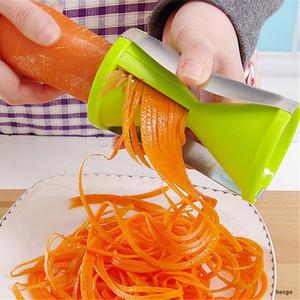 Спираль Hourglass Растительной Терка Кухня Многофункционального Картофель Морковь Резак Творческого Вращающиеся Фрукты Растительной терка Инструменты AHA800
