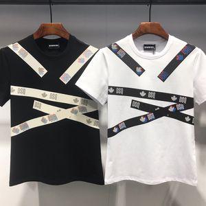 Camiseta del diseñador camisa de la manera DSQ FANTASMA TORTUGA 2020FW nuevo Mens Italia Patrón camisetas verano DSQ camiseta masculina de calidad superior 100% algodón Top 7547
