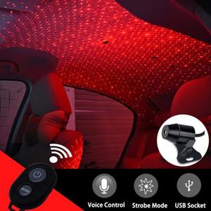 LED Car Roof Star Night Light Projector Atmosphere Galaxy Lamp Universal USB Decorative Lamp Adjustable Multiple Lighting Effect