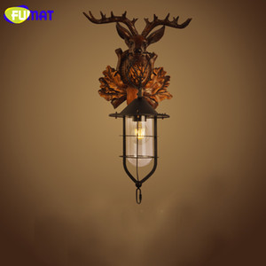 Ailse industrial Lâmpadas de parede Fumat Deer Head Wall Light American Country cabeceira Lamp Vintage Luminaria Lâmpada de parede