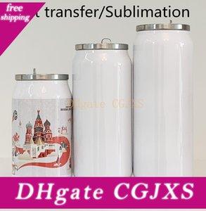 Diy Cola Sublimation Bouteille d'eau Thermos à double paroi en acier inoxydable Tumbler isolation sous vide avec couvercle Blank
