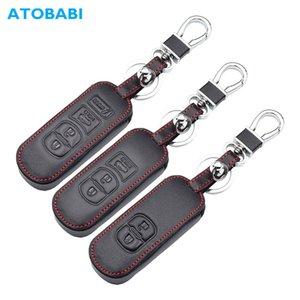 진짜 가죽 자동차 키 케이스에 대한 마즈다 3 2 5 6 Axela CX-3 CX5 CX5 CX7 CX7 CX-9 RX8 스마트 원격 시계 줄 수호자 커버 키 체인 가방