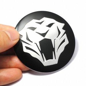 4 pezzi 56 millimetri sterzo della tigre della testa dell'automobile Pneumatico Ruota Centro Sticker protezione di mozzo Hubcap Sticker distintivo dell'emblema della decalcomania per Jaguar Audi BMW Nissan uXv2 #