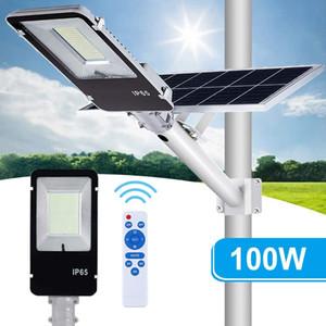 Haute Qualité Solar Street Light LED Projecteur Spotlight 50W 60W 100W 200W 300W 500W 500W EXCEPTOIRE Etanche Solar Solar Lampadaire LED