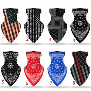 Открытый Спорт Многофункциональный бандана оголовье Флаг США печати маска для лица шарф Свет и дышащий шарф Мягкий Магия банданы головной убор