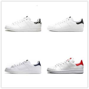 Adidas Shoes Интернет Продажа Originals Stan Smith Shoes Дешевые Женщины Мужчины Повседневная Кожа Superstars скейтборд Штамповка Белый Черный Зеленый Синий Спортивная обувь