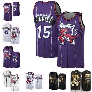 Vince Vintage 15 Carter Pascal 43 Siakam roxo Kawhi Tracy McGrady 1 Kyle Lowry Leonard TorontoraptoresVanVleet Basketball Jerseys