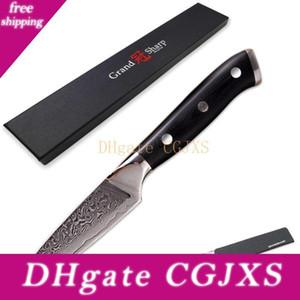 YKC Hot Damaskus Schälmesser 3 0,5 \ Quot; Japanische Damaszener Vg -10 Messer Mosaik Rivet G10 Griff Schälen von Obst Küchenmesser