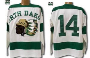 las mujeres de Hombres jóvenes Vintage 1954 de Dakota del Norte Sioux Jersey Fighting Sioux DAKOTA Jersey del hockey del tamaño S-5XL o costumbre cualquier nombre o número