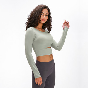 luyogasports lu yoga sports bra women gym fitness clothes long-sleeved T-shirt padded half length lu bra running slim athletic yoga top
