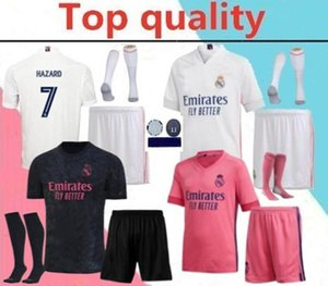 ncaa 2020 Real Madrid Isco Hazard Adult Soccer Jersey Voll Kits 20/21 Modric Marcelo Benzema Bale Mariano Männer-Fußball-Hemd-Ausrüstung mit