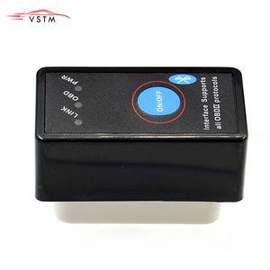Super Mini diagnostic Elm327 auto Bluetooth Avec On / Off Interrupteur d'alimentation ELM 327 OBD2 Scanner Diagnostic support Voitures multimarque