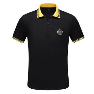 Großes Pony Krokodil Polo hochwertige Baumwolle neue Stehkragen Kurzarm-T-Shirt-Marke für Männer T-Shirt beiläufigen Sport Männer-T-Shirt