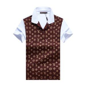гг моды Классического дизайнера Luxury Brand новых людей поло футболка с коротким рукавом вышивка письмо мужского поло мужским дизайнерскими рубашки поло