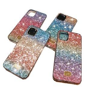 Gradient Glitter Premium Rhinestone Case Luxury Designer Women Defender Phone Case For iPhone 11 Pro Xr X Xs Max 6 7 8 Plus