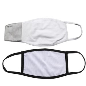IN STOCK Blanks Sublimation Face Mask Adults Kids With Filter Pocket Can Put PM2.5 Gasket Dust Prevention Masks
