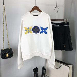 2020 designer high quality women's sweater pullover jacquard knit top color block fleece cotton sweater free shipping