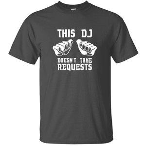 Kişiselleştirilmiş Yaz Bu Dj Doesn T Al Erkekler% 100 Pamuk Gri Erkek Harajuku Erkekler Tshirts Hip Hop için T-Shirt İstekleri