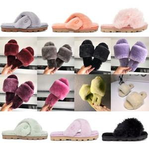 Nuovo l'Australia fluff sì progettista delle donne pistone casuale fuzz pantofole donne soffice fuzzette Cozette fuzzalicious peloso diapositive pelliccia sabbia SG66 #