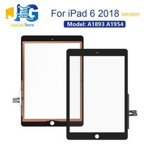 Para iPad 6 6ta GEN 2018 Versión A1893 A1954 de la pantalla táctil delantera exterior de vidrio Panel Negro Blanco 9.7 pulgadas de DHL