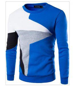 Felpe Designer O maniche lunghe primavera calda Mens Felpe Casual Camicie Uomo Patchwork Mens di colore