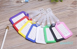 Новая мода путешествия ПВХ Тэг Пластиковые багажную бирку Cute Cartoon багажа Идентификация способа идентификации багажа