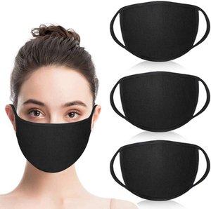 Tuch Mund Waschbar Wiederverwendbare Unisex Mode Masken Anti-Staub Warm Ski Black Cotton Face Mask für Radfahren Camping-Reisen