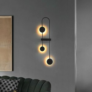 Living room decorative wall lamp North Europe bedroom bedside lamp modern simple creative art minimalist line corridor wall lamp