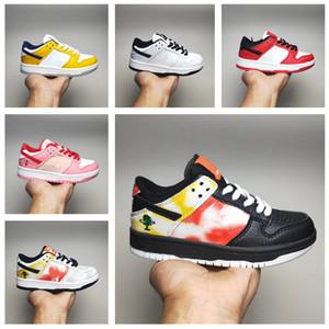 أحذية رياضية الرضع منخفضة برو QS التعادل صبغ أسود ريجون أحذية كرة السلة للأطفال نبتون الصغار حديثي الولادة الطفل المدربين أطفال بوي فتاة أحذية رياضية