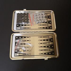 Alluminio portatile di viaggio di backgammon gioco di scacchi