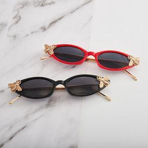 HOT Women Sunglasses Little Bee Design Sun Glasses Cat Eye Eyeglasses Anti-UV Spectacles Small Frame Eyewear Adumbral A++