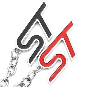 Auto Metall Logo Keychain Schlüsselanhänger Schlüsselringhalter für Ford ST Logo Fiesta Ecosport 2009-2020 Focus2 Focus3 Mondeo Kuga 2 3 4