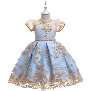 INS flower girls dresses for wedding Fashion girls dresses lace princess dress party kids dress teenage girls clothing kids clothes B2132